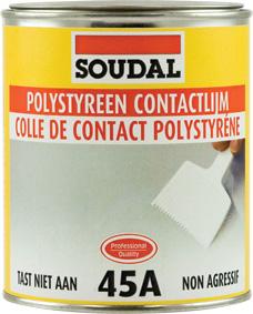 Soudal expert en colle mousse pu et mastics for Enduit sur polystyrene extrude